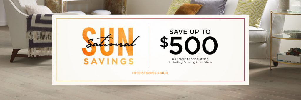Sun Sational Savings Coupon for flooring product |