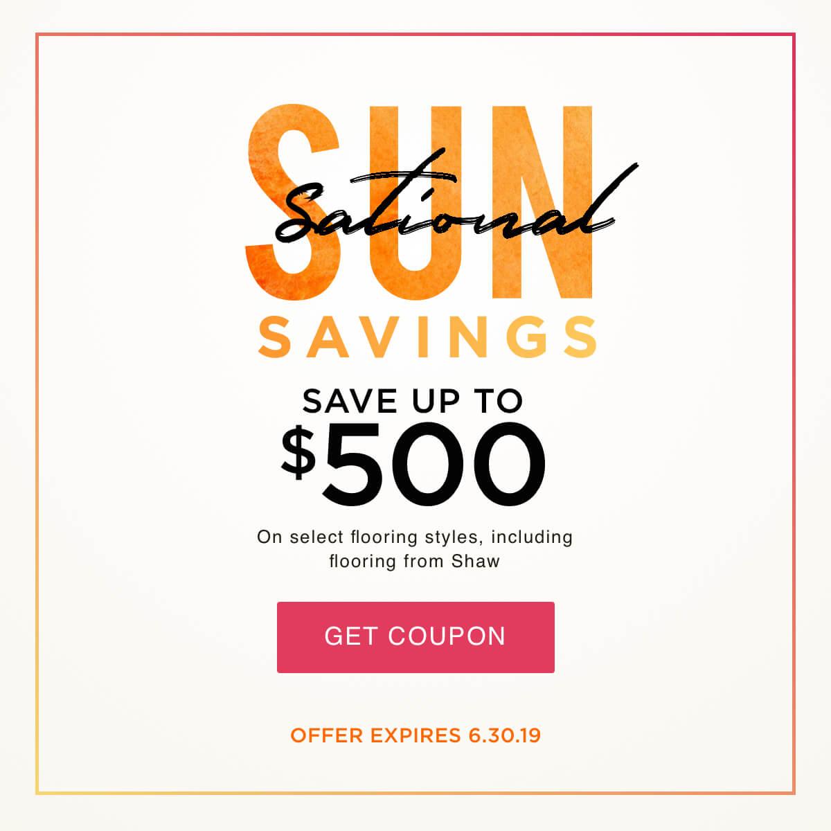 Sun Sational Savings Coupon
