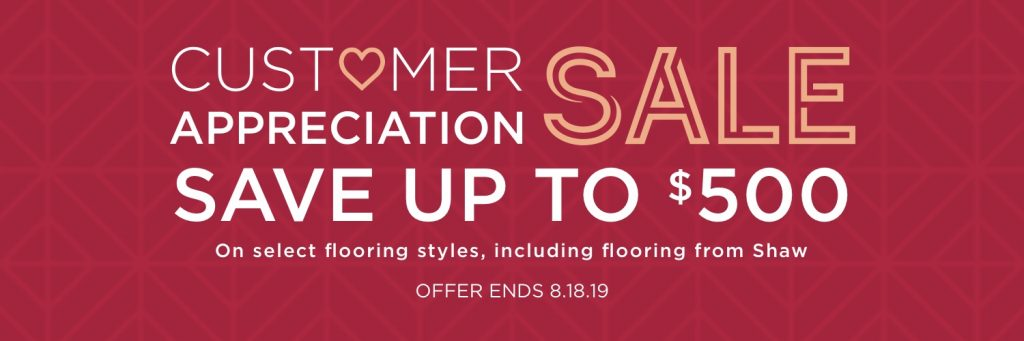 Customer Appreciation Sale on flooring product | A & S Carpet Collection