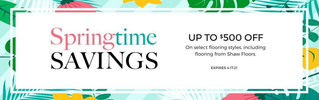 Springtime Savings | A & S Carpet Collection