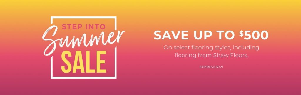 Step into Summer Sale | A & S Carpet Collection